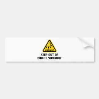 WARNING - behalten Sie aus direktem Sonnenlicht Autoaufkleber