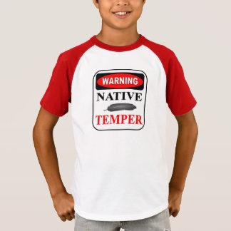 WARNING GEBÜRTIGES TEMPERAMENT T-Shirt