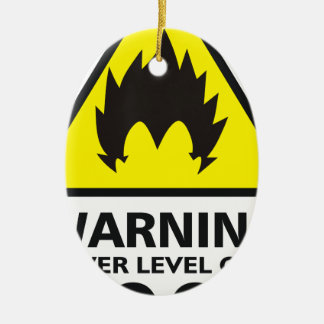 Warning the its power 9000 zu over ovales keramik ornament