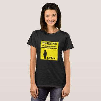 Warnung:  Diese Person kann über Hühner sprechen T-Shirt