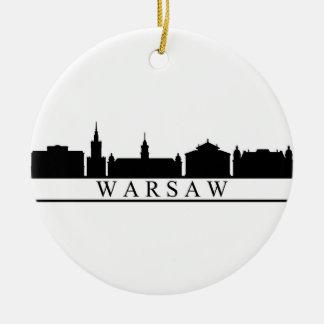Warschau-Skyline Keramik Ornament