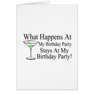 Was an meinen Geburtstags-Party-Aufenthalten bei m Karte
