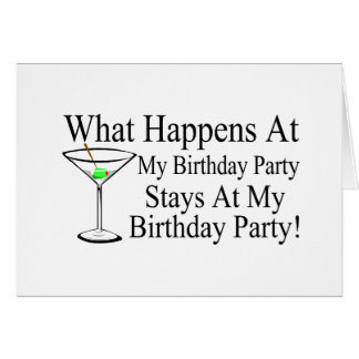 Was an meinen Geburtstags-Party-Aufenthalten bei m Grußkarte