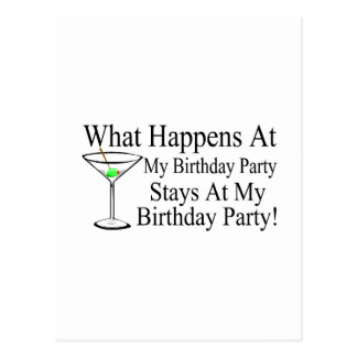 Was an meinen Geburtstags-Party-Aufenthalten bei m Postkarte