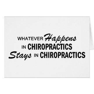 Was auch immer geschieht - Chiropraktiken Karte