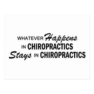 Was auch immer geschieht - Chiropraktiken Postkarte