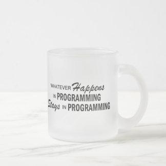 Was auch immer geschieht - Programmierung Mattglastasse