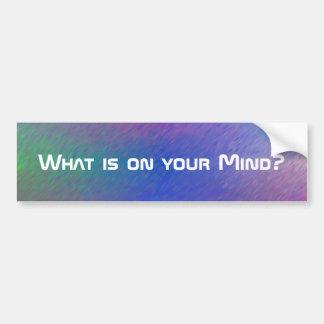 Was auf Ihrem SinnesAutoaufkleber ist Autoaufkleber