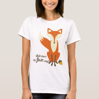 Was den Fox tut, Illustrations-T-Shirt zu sagen T-Shirt