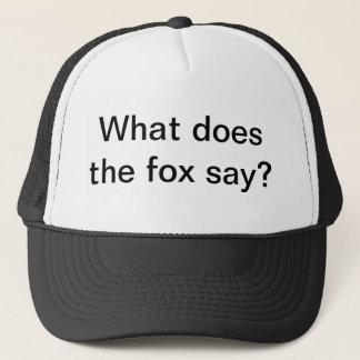 was den Fuchs tut, sagen Sie Truckerkappe