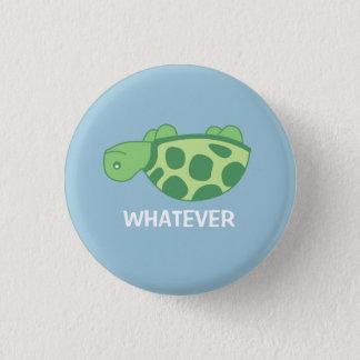 Was Schildkröte Runder Button 3,2 Cm