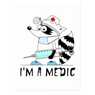 Waschbär: Ich bin ein Mediziner Postkarte