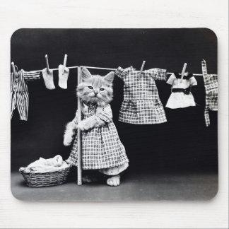 Wäscherei-TagesMiezekatze Mauspad