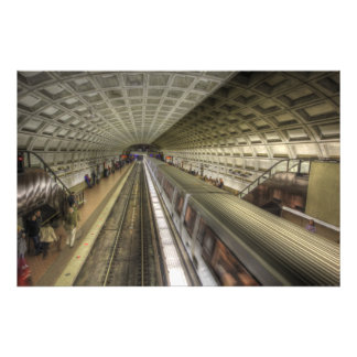 Washington DC-Metro-Bahnstation Fotodruck
