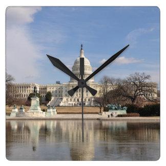 Washington DC Quadratische Wanduhr