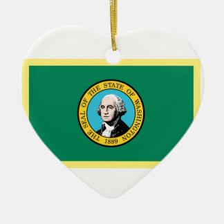 Washington-Flagge Keramik Ornament