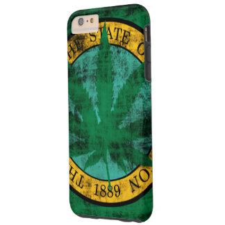 Washington-Flaggen-Topf-Blatt-Schmutz Tough iPhone 6 Plus Hülle