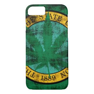 Washington-Flaggen-Topf-Blatt-Schmutz iPhone 7 Hülle
