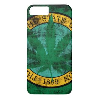 Washington-Flaggen-Topf-Blatt-Schmutz iPhone 8 Plus/7 Plus Hülle