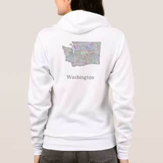 Washington-Karte Hoodie