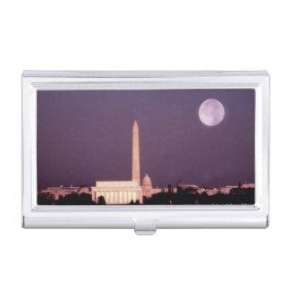 Washington-Monument, die Hauptstadt und Jefferson Visitenkarten Etui