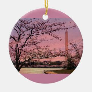 Washington-Monument-Kirschblüten-Festival Keramik Ornament