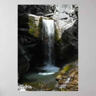 Washington-Natur u. Wasserfall-Druck Poster