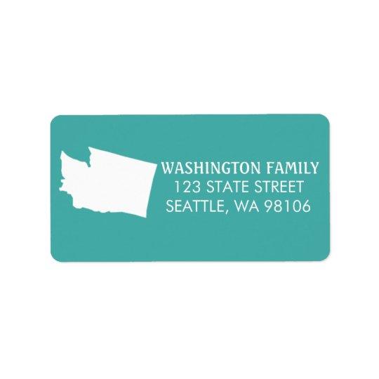 Washington-Staats-Rücksendeadressen-Aufkleber - Adressetikett