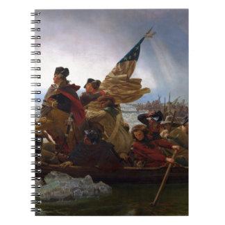 Washington Vintage Kunst, das des Delawares - US Spiral Notizblock