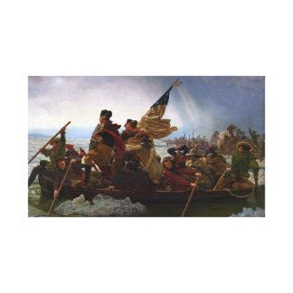 Washington Vintage US Kunst, das des Delawares - Leinwanddruck