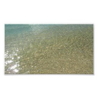 Wasser auf der abstrakten Natur-Fotografie des Fotodruck