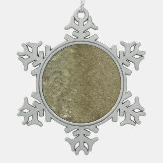 Wasser auf der abstrakten Natur-Fotografie des Schneeflocken Zinn-Ornament