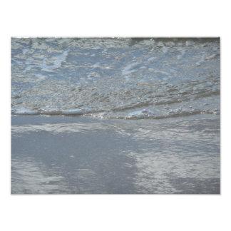 Wasser-Einhüllung auf der Strand-abstrakten Fotodruck