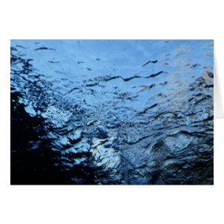 Wasser Grußkarte