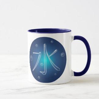 Wasser-Kanji-Tasse Tasse