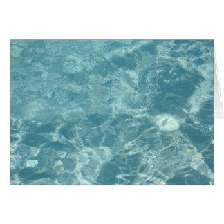 Wasser-Kräuselung Grußkarte