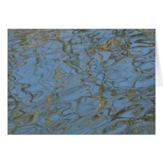 Wasser-Kräuselungen Grußkarte
