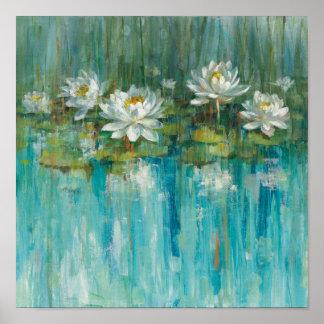 Wasser-Lilien-Teich Poster
