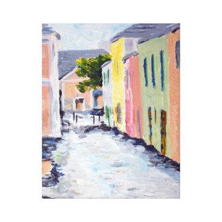 Wasser-Straße, Bermuda Leinwanddruck
