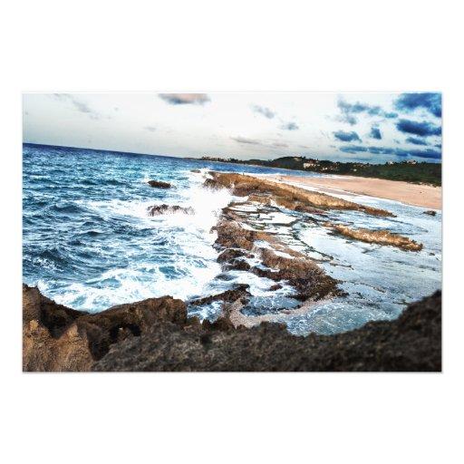 Wasser u. Felsen (höhere Bild-Entschließung) Photo Druck