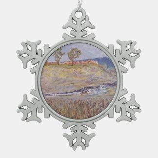 Wasser und Unkräuter Schneeflocken Zinn-Ornament