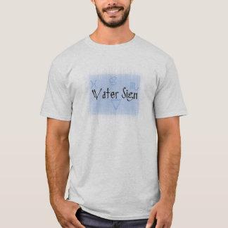 Wasser-Zeichen-grundlegender T - Shirt