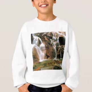 Wasserfall-coole Wasser-Sägezahn-Wildnis Idaho Sweatshirt