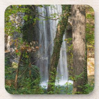 Wasserfall im Holz Untersetzer