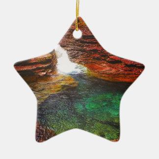 Wasserfall Keramik Stern-Ornament