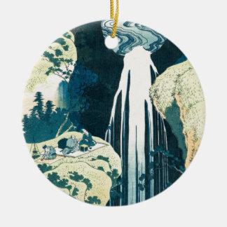 Wasserfall Rundes Keramik Ornament
