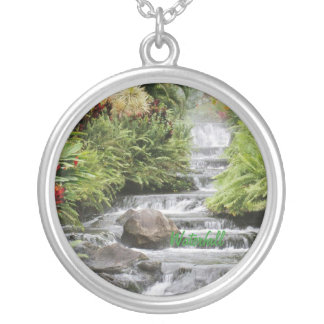 Wasserfall-Silber überzogenes Halskette 