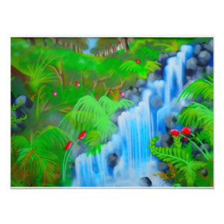 Wasserfall-Straßen-Kunst Photo Drucke