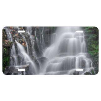Wasserfall US Nummernschild