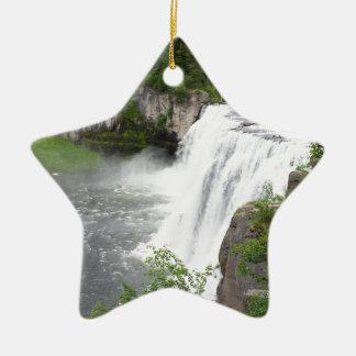 Wasserfälle Keramik Stern-Ornament